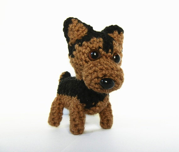 Crocheted German Shepherd by aphid777 on deviantART |Crochet German Shepherd