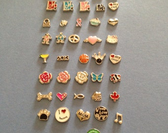 75pc wholesale floating charm lot they fit origami owl