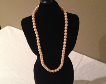 Vintage Lovely Faux Pearl Necklace-Made In Japan-Estate Sale Find!