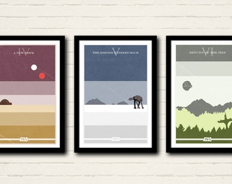 Star Wars Series Poster Set Art Print Collection 11 X 17 Minimalist Poster