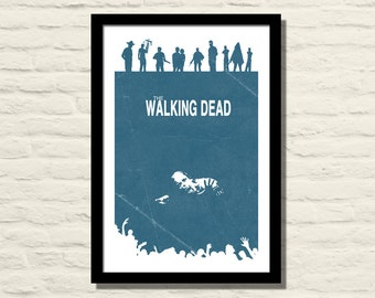 The Walking Dead Poster 11 X 17 Art Print, Vintage Style, Minimalist, Home Decor