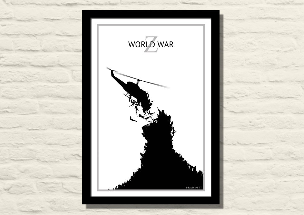 World War Z 11 X 17 Art Print Poster Minimalist Home Decor
