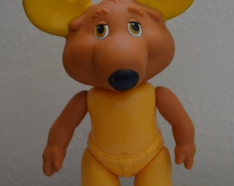 "Vintage MONTGOMERY MOOSE from the Get Along Gang, 1984 5.75"" TOMY pvc Poseable"