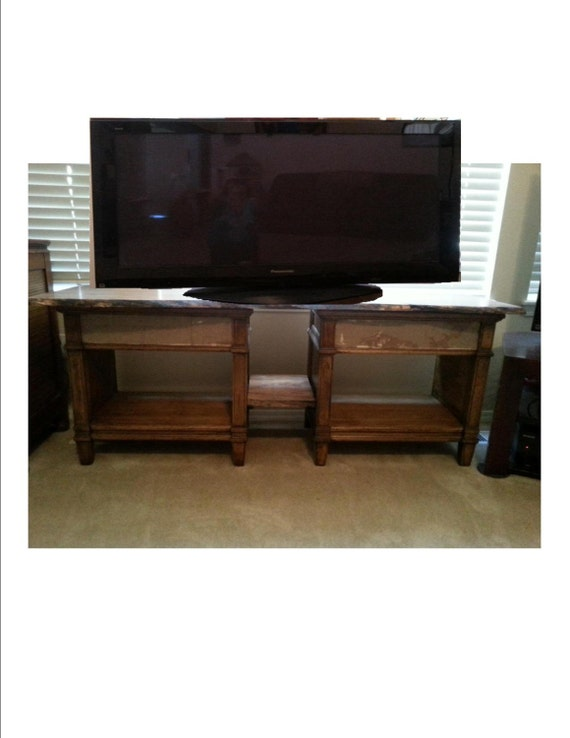 Items similar to upcycled entertainment center tv stand for Upcycled entertainment center