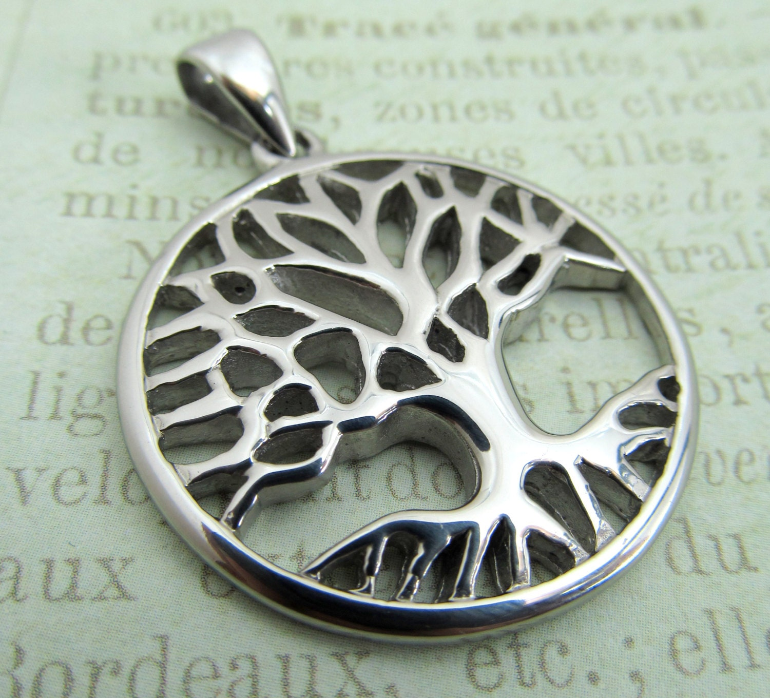 Steele S Christmas Tree Farm: Tree Of Life Pendant Stainless Steel Tree By SuppliesOnTheSide