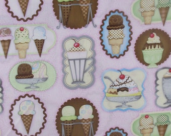 Whats the Scoop Ice Cream Shop Pink Fabric From SPX