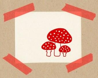Fly argarics // stamps 2 x 2 cm