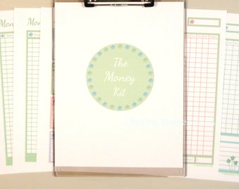 The MONEY KIT, printable budget, bill organizer, receipt tracker, debt tracker, instant download, Spring Home Printables, PDF, Full Size