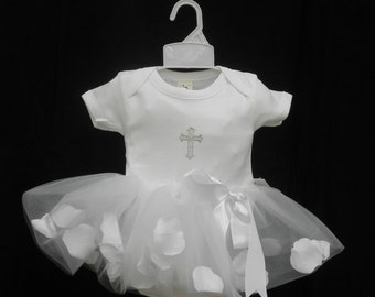 After Christening Tutu Outfit with headband