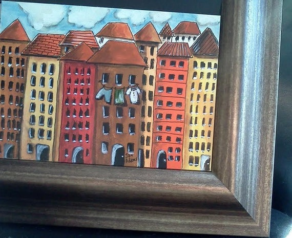 On aquabord 5x7 original frame without glass by townpaintings - Picture frame without glass ...