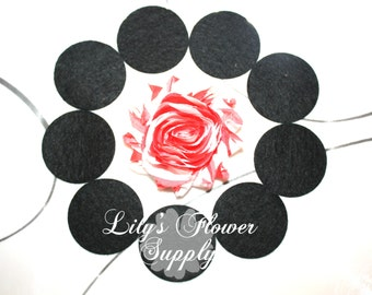 """25 Black Felt Circles - 1.5"""" Felt Circle - Adhesive Felt Circle - Die Cut Felt Circles - Sticky Felt Circles...Felt Circles - DIY"""