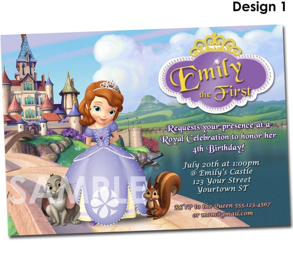 Sofia the first invitation printable birthday party invite like this item solutioingenieria Choice Image