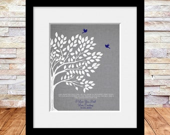 Father of the Bride Wedding Thank You Gift, Wedding Gift, Like Branches on a Tree, Brides Dad, Brides Father, Fathers Day Wall Print