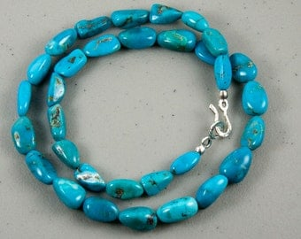 Thankful Necklace - turquoise and silver