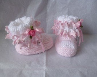 knitting pattern no 3 INSTANT DOWNLOAD for baby girls booties/shoes/bootees/pram shoes.to knit in size 0-3 months.