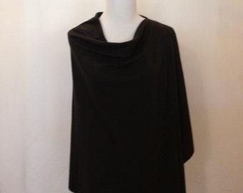 Black Breastfeeding scarf/shawl
