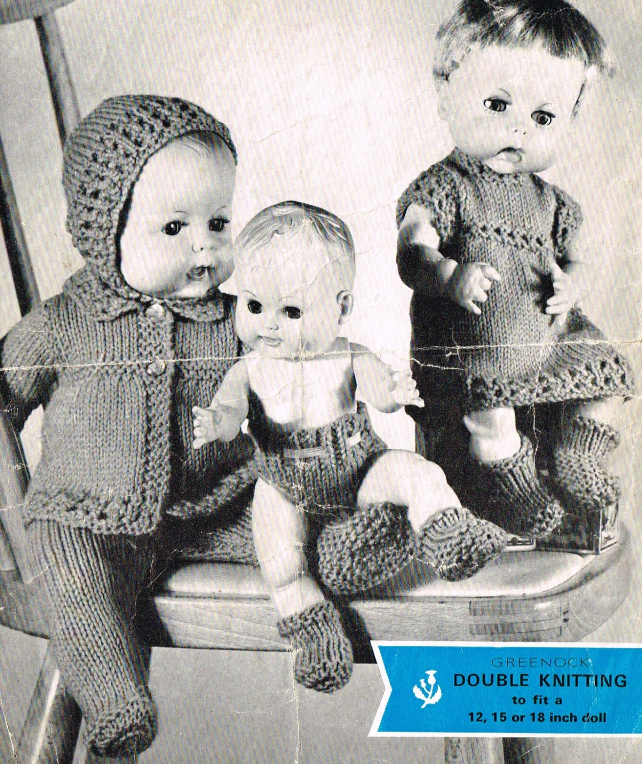 Dolls clothes knitting pattern for 121518