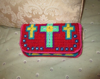 Colorful Cross Clutch/Wallet