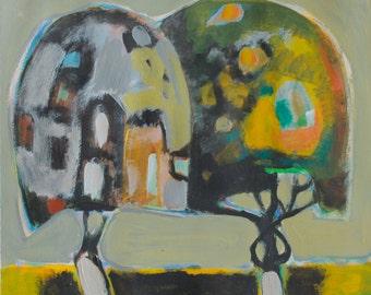 Trees Painting, Acrylic trees Painting, Acrylic painting, Forest Painting, Original Trees Art,Trees Art