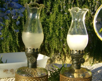 2 Farms Lamplight Kerosene Lamp With Filigree Metal Band