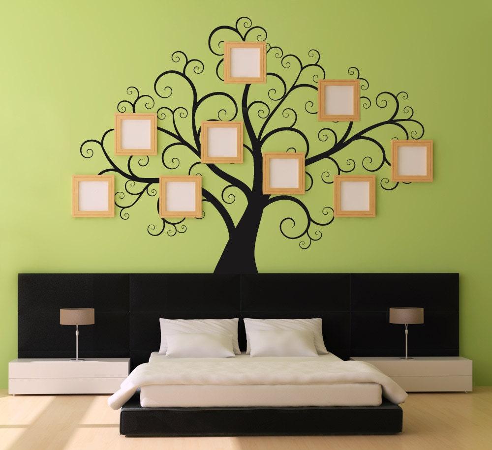 Adesivi di swirly treewall grande decal per camere da letto for Disegni da parete