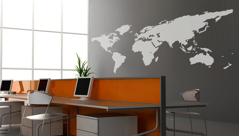 Decals for walls World map Wall decal Wall Sticker Decals Home