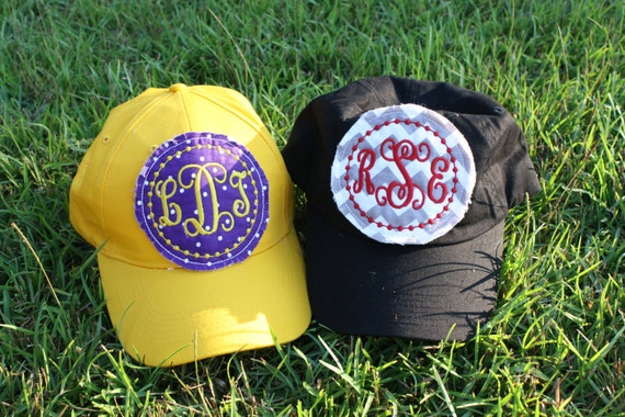 Monogrammed Raggy Patch Hat