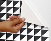 Removable self-adhesive modern vinyl Wallpaper wall sticker - Home decor Checker pattern wall decal  C012