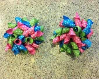 Set of Polka dot Mini Korker Bows