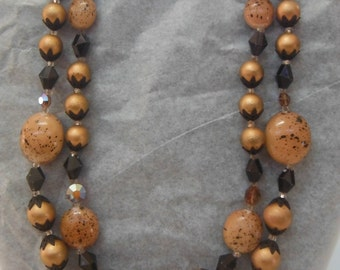 Deauville Vintage 1950's Double Strand Necklace