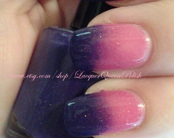 Angel Baby - Color Changing Purple to Hot Pink Nail Polish - Scattered Holo Nail Polish