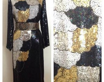 Sequin New Year's midi dress