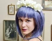 Delicate White Flower Crown, Hippy Flower Crown, Wedding Floral Crown, Flower Child, Festival Flower Crown, Rave Wear.