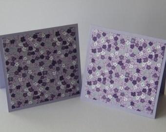 Set of 4 Flowered cards