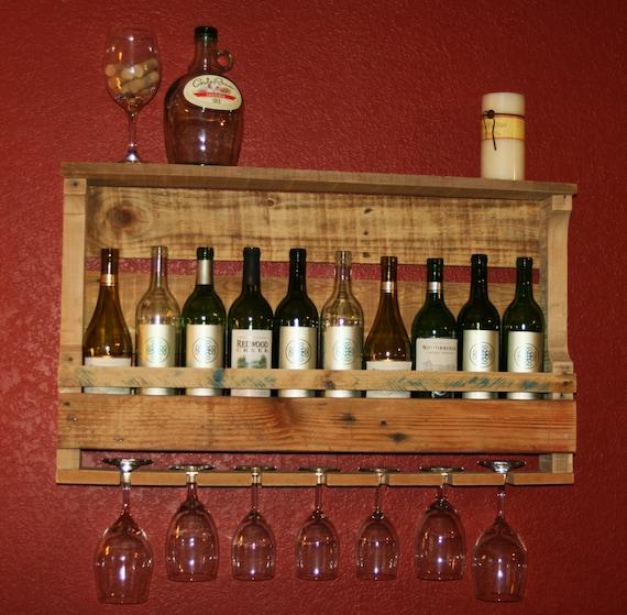 Wine rack pallet wine rack reclaimed pallet by jslranchrustics for Winery kitchen ideas