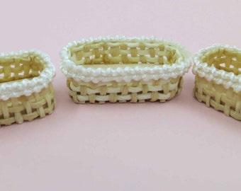 Miniature Basket 3 pcs
