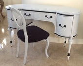 Gorgeous Kidney Desk & Chair - SalonTiffani