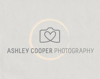Photography logo design photography watermark camera logo. Instant download DIY psd logo template