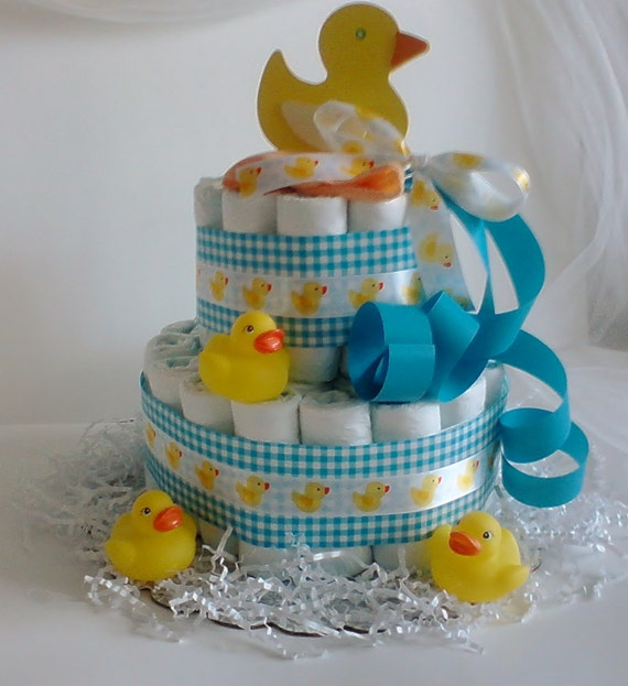 Baby Shower Diaper Cake DUCKS 2