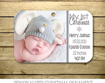 Personalized Christmas Ornament - Baby's First Ornament - Christmas - photo