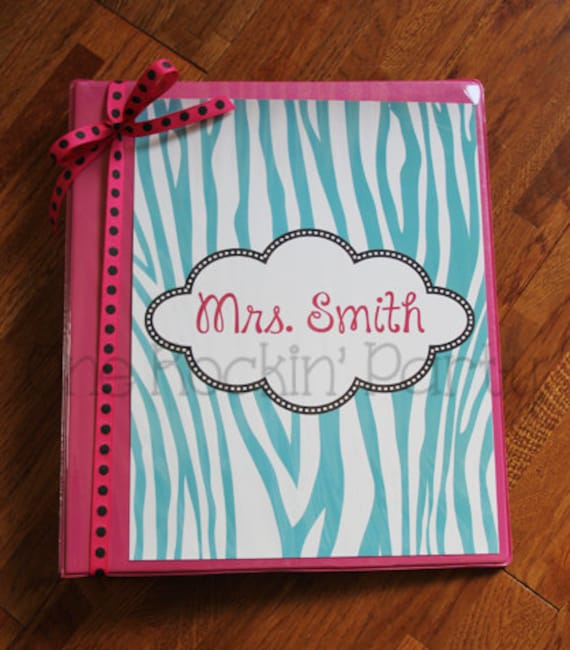 Items Similar To Personalized Binder Cover Insert