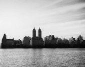 Skyline silhouette, black and white photography, new york city, nyc art, new york skyline, manhattan, buildings, photo art, city art, urban