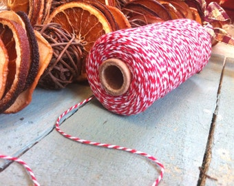 Red Bakers/Butchers Twine - Craft Supplies