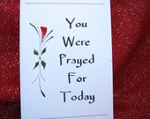 You were prayed for today - 5 prayer cards