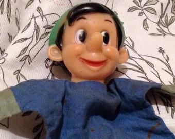 Vintage Collectible Disney Semco Pinocchio Cloth Hand Puppet