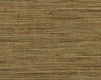 Faux Grasscloth Wallpaper - Wicker, Green, Tan, Woven, Natural Look ...