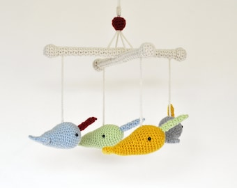 Narwhal Baby Mobile