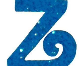 Turquoise Blue Letter Z