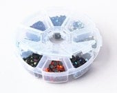 Crystal Rhinestone Hotfix 4mm, 1600pcs 8 kind of combined colors Flat Back Rhinestone with the Container