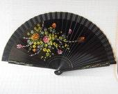 oriental fan, folding fan, japanese fans, Hand made,  Silk hand fan, hand painted, accessory